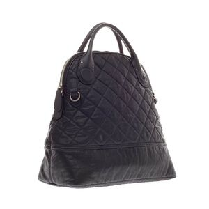 Chanel North South Quilted Aged Calfskin Bag
